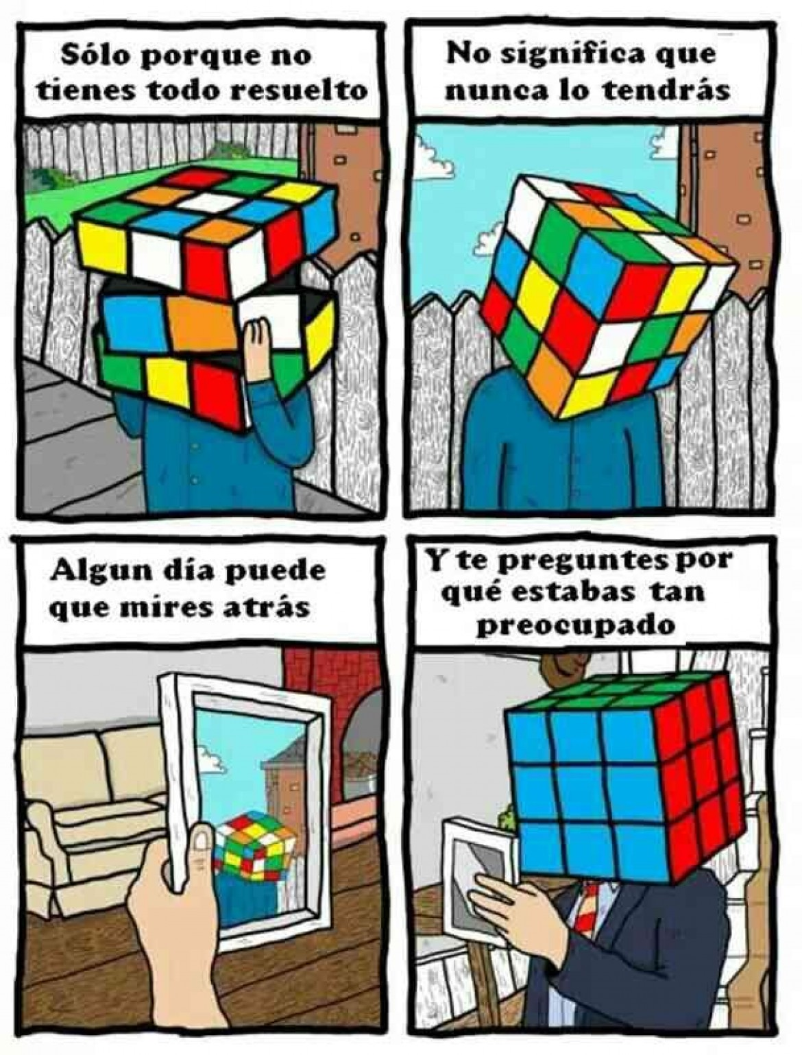 ¿Te sientes como un cubo Rubik?