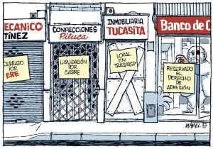 Crisis en el comercio